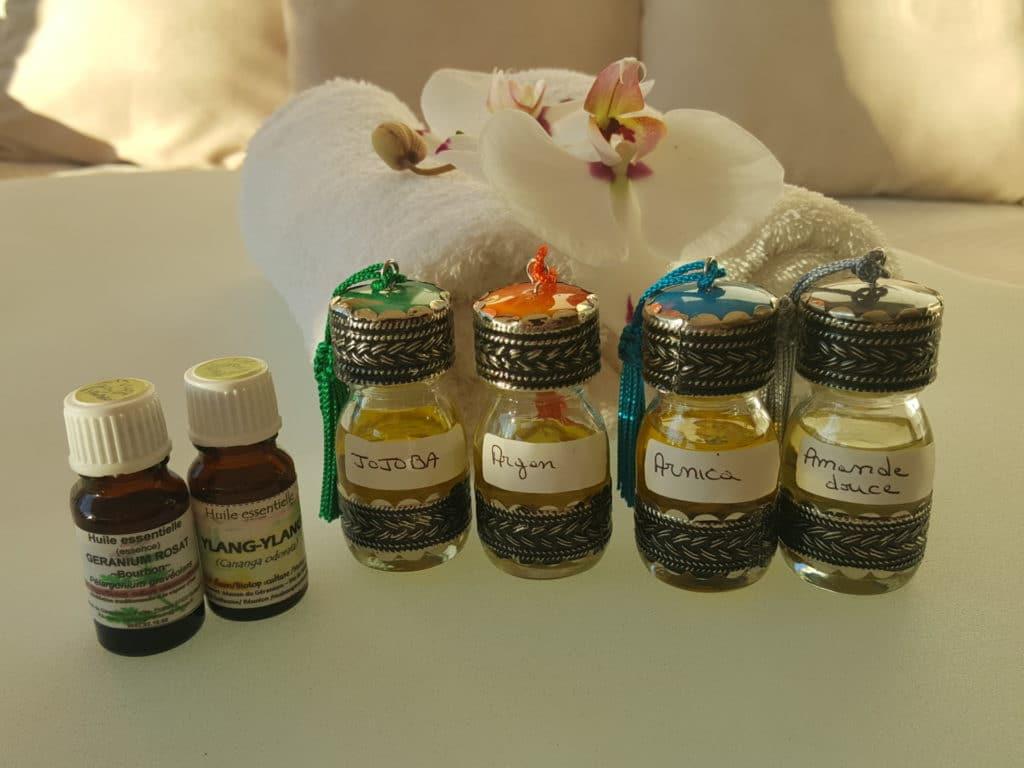 Photo huile massage 2